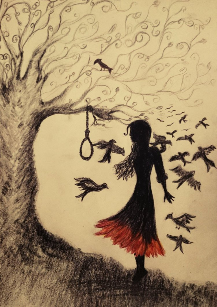 Hanging Tree Drawing at GetDrawings.com | Free for personal use ...