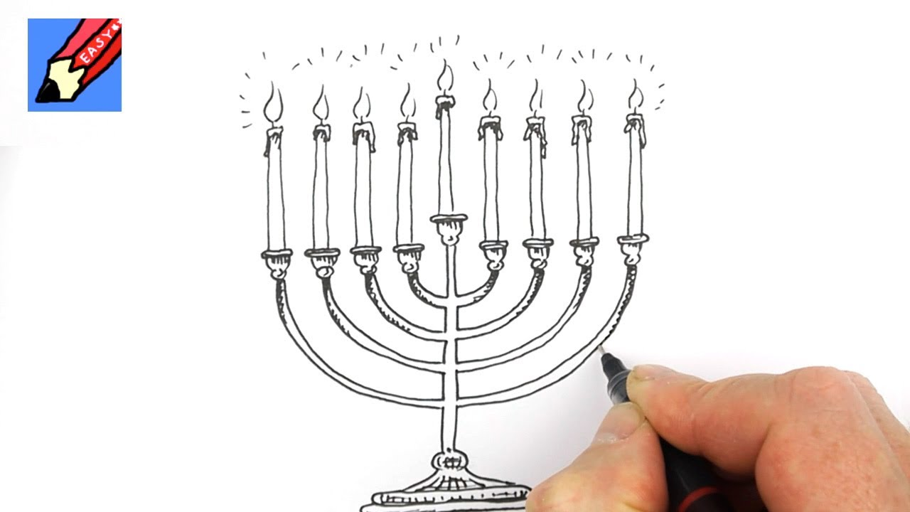 1280x720 How To Draw A Hanukkah Menorah Real Easy