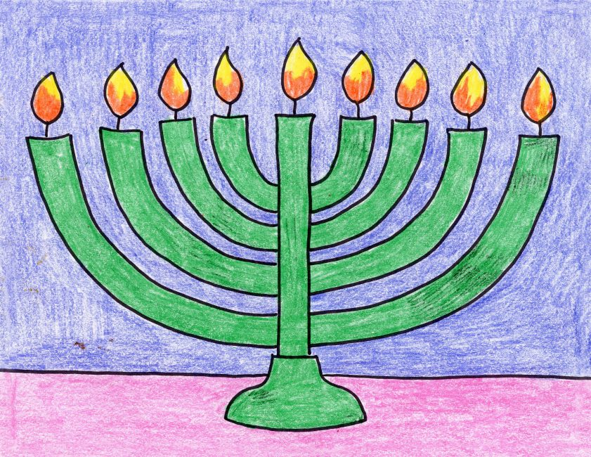 841x650 Draw A Menorah