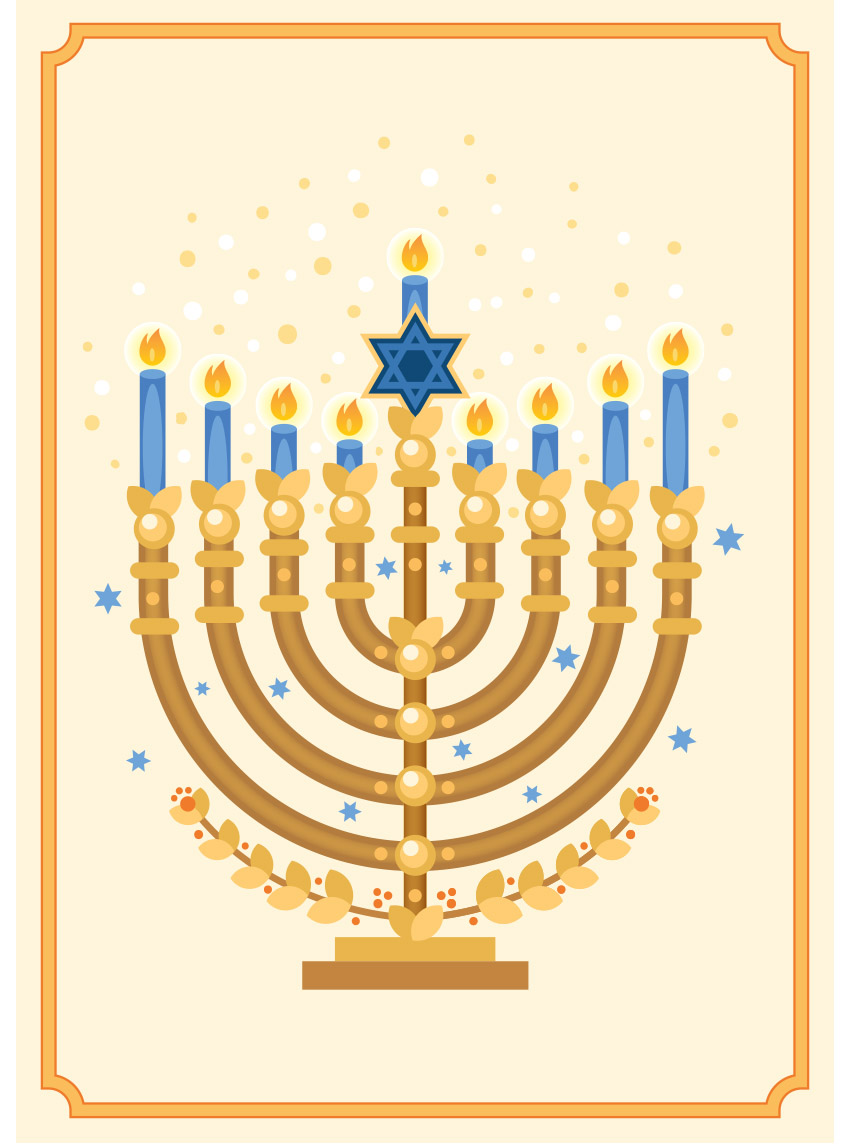850x1148 How To Create A Menorah Illustration In Adobe Illustrator