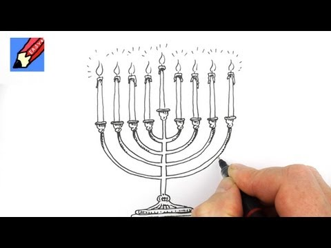 480x360 How To Draw A Hanukkah Menorah Real Easy