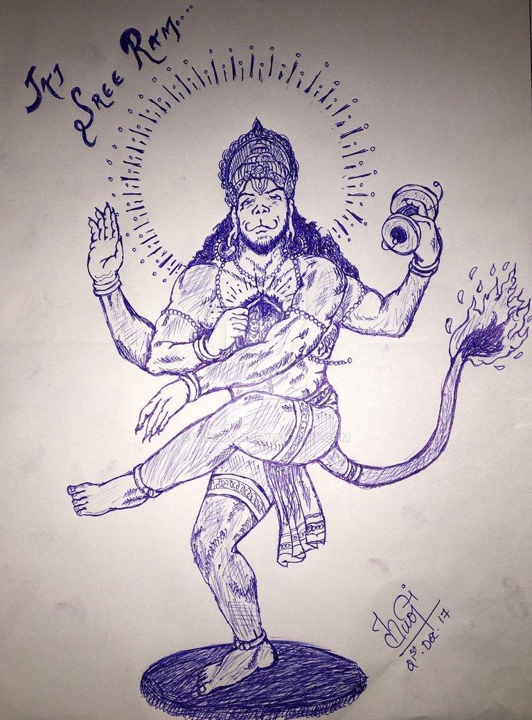 Hanuman Drawing at GetDrawings   Free download
