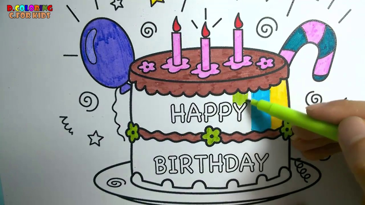 Birthday Cake Outline Printable ~ Happy birthday cake drawing at getdrawings.com free for personal