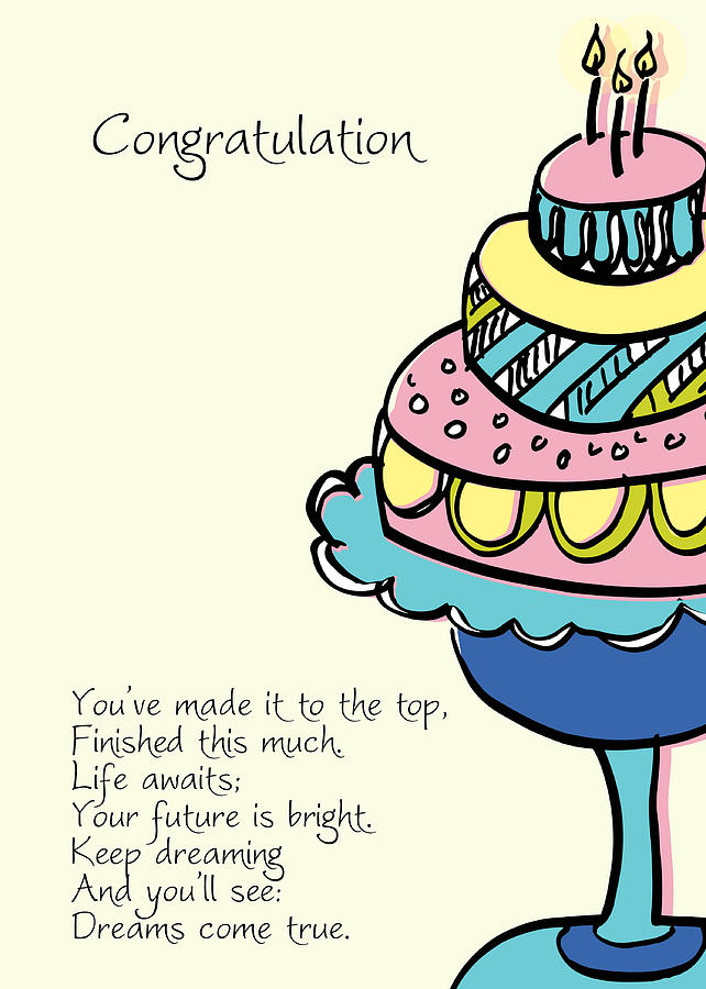 642x900 Happy Birthday Cake Digital Art By Hulda Olafsdottir