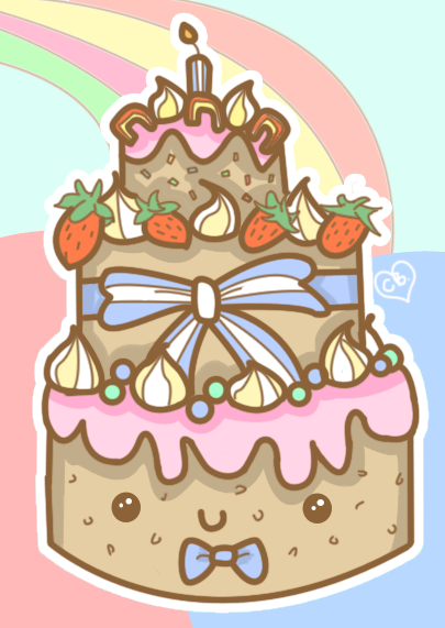 405x571 Happy Birthday Cake By Butterscones