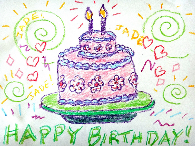 800x597 Happy Birthday 2nd Birthday Drawings For Jade