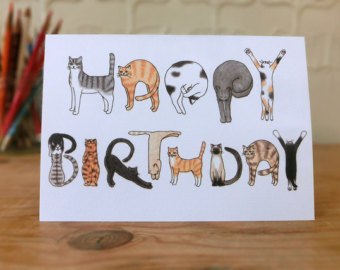 Happy birthday card drawing ideas at getdrawings free for 340x270 some interesting ideas of handmade cats design cards bookmarktalkfo Image collections