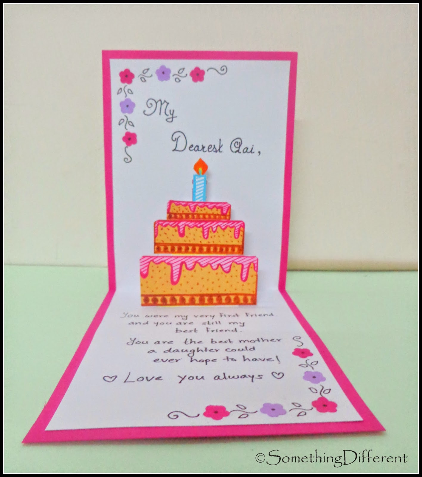 1416x1600 Something Different 3 D, Pop Up Birthday Card