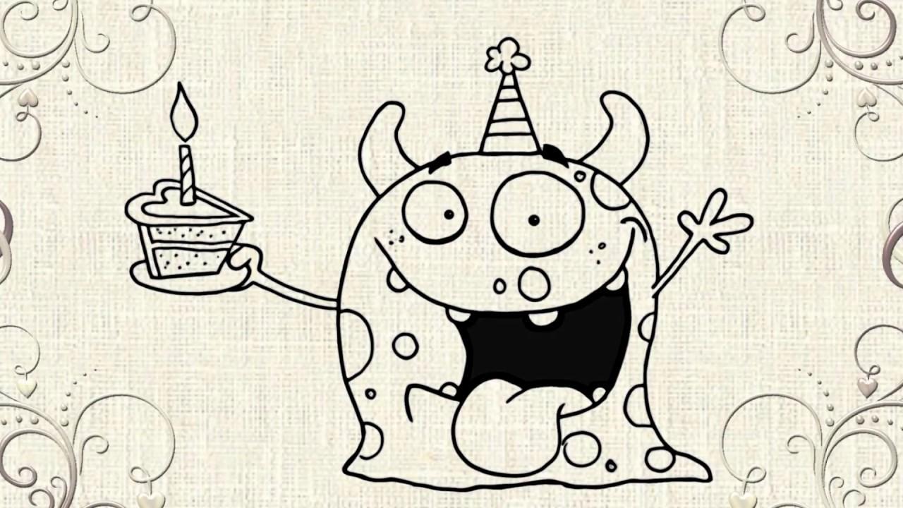1280x720 Happy Birthday Drawing