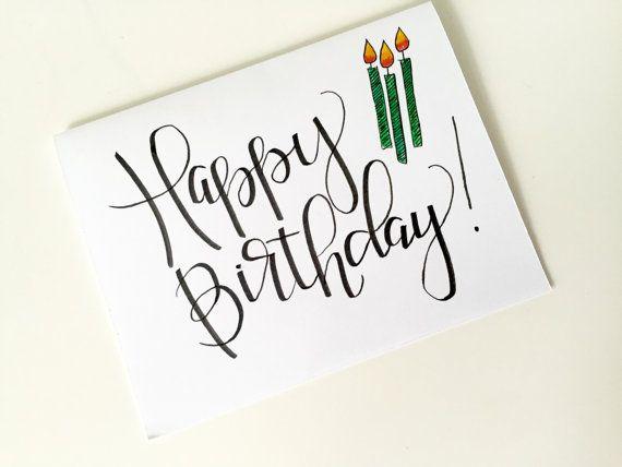 570x428 Happy Birthday Card Happy Birthday Hand Lettering Hand Drawn