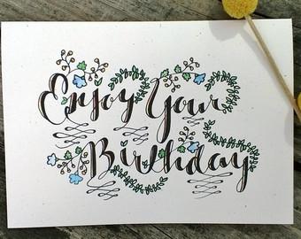 340x270 Funny Happy Birthday Hand Drawn Card