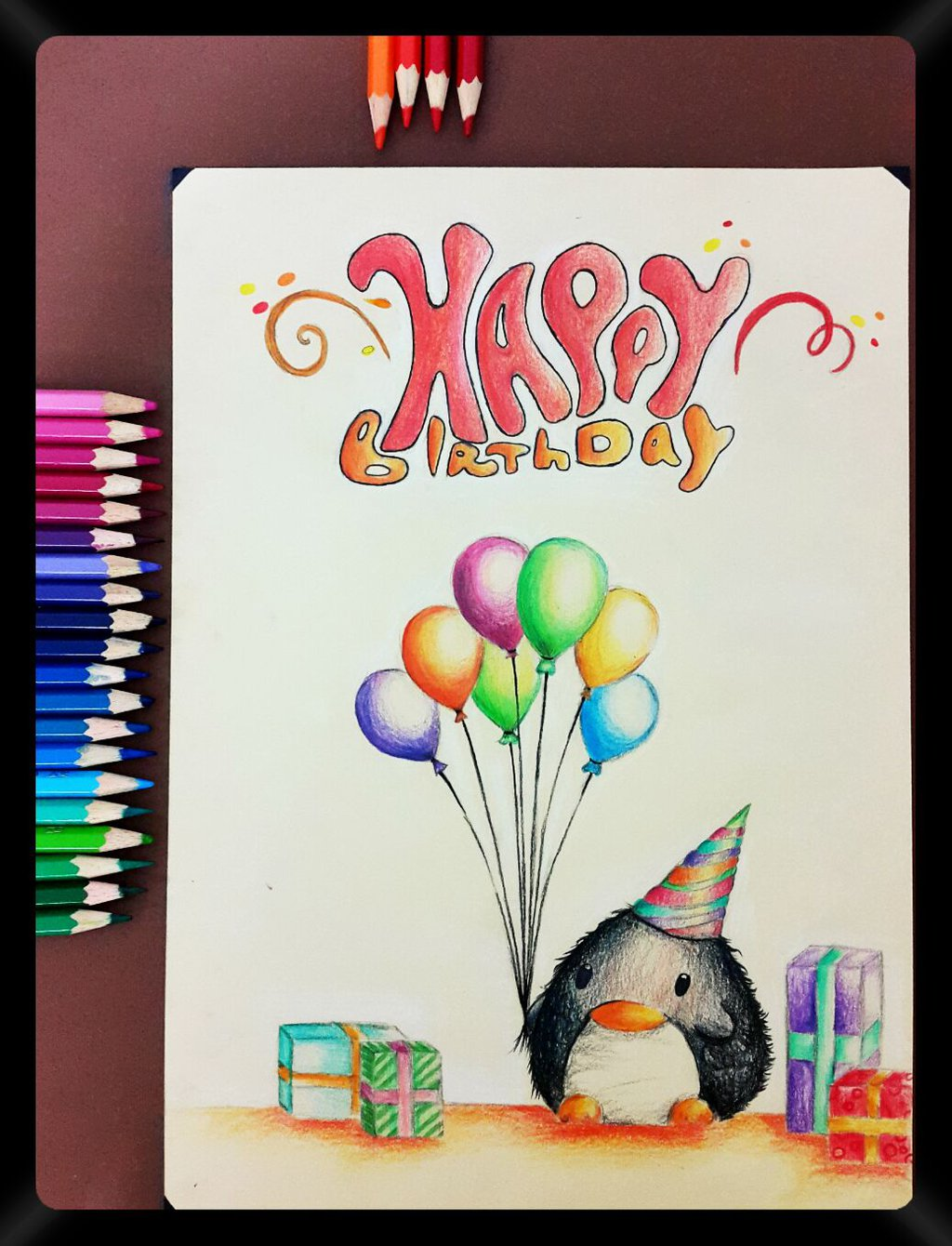 1024x1340 Good Drawings For Birthday Cards Easy Birthday Card Drawings