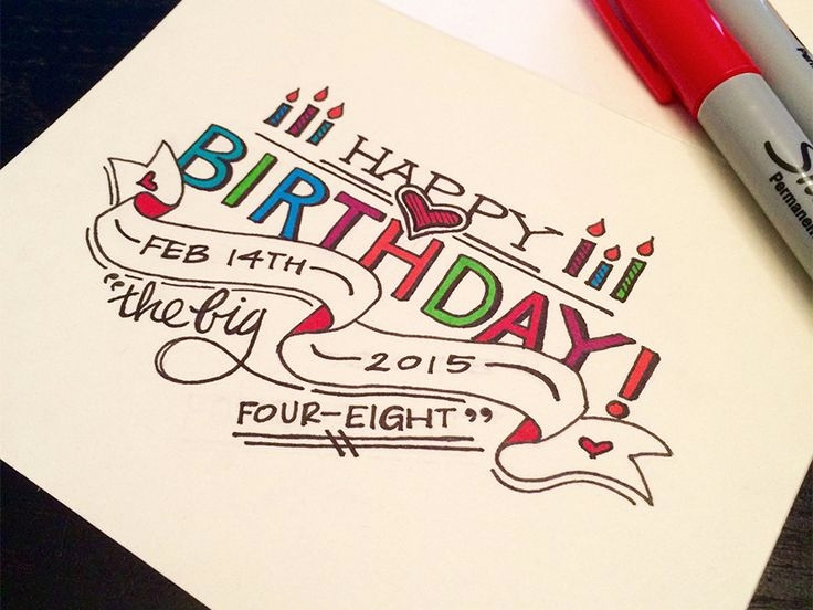 Happy Birthday Drawing Designs At Getdrawings Free For