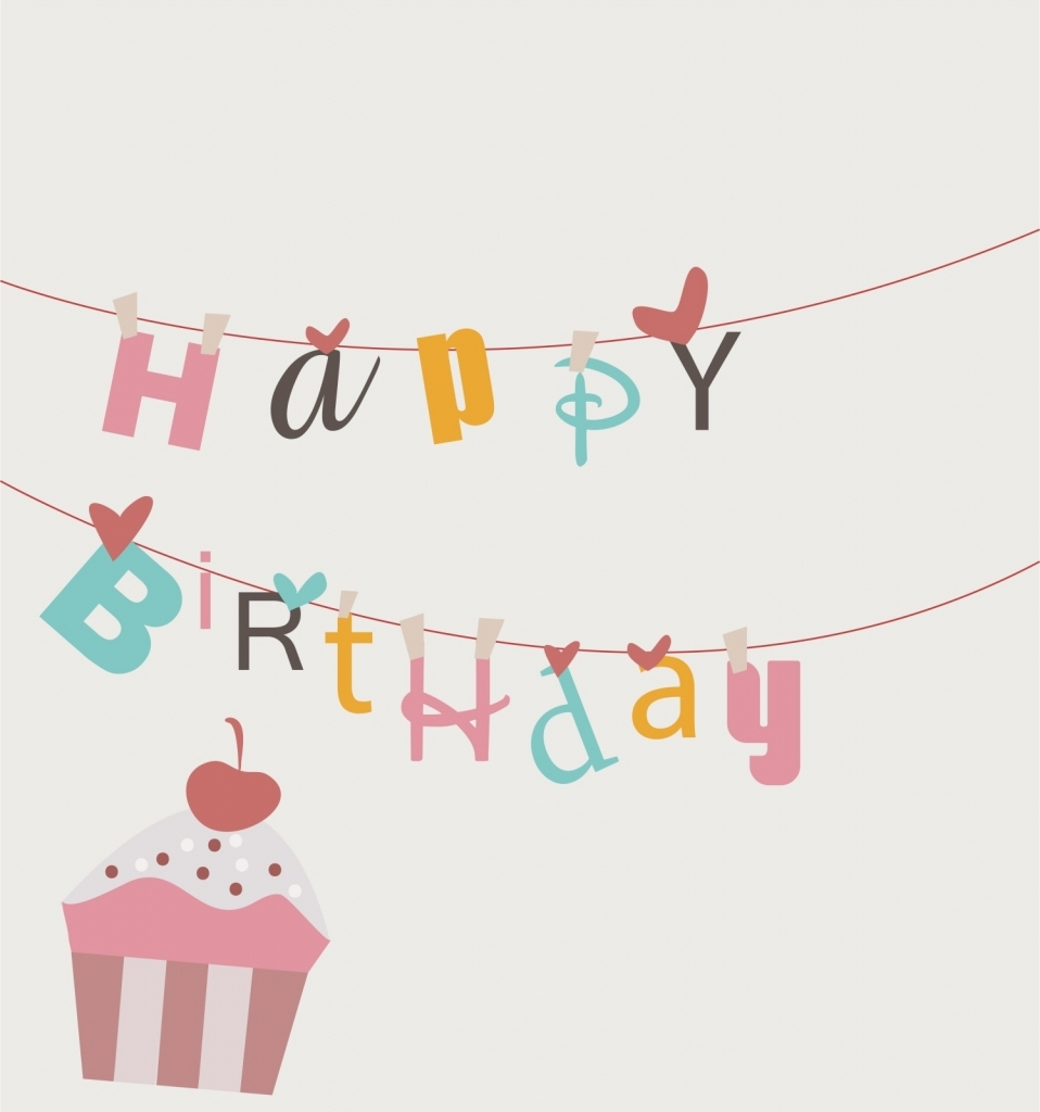 958x1024 Happy Birthday Card Drawing