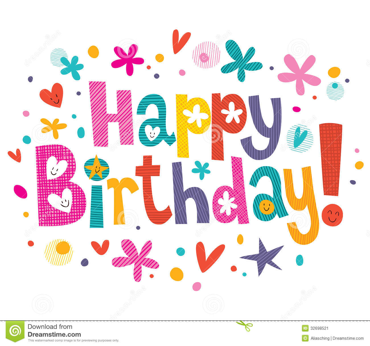 1300x1217 17 Drawing Happy Birthday Font Images