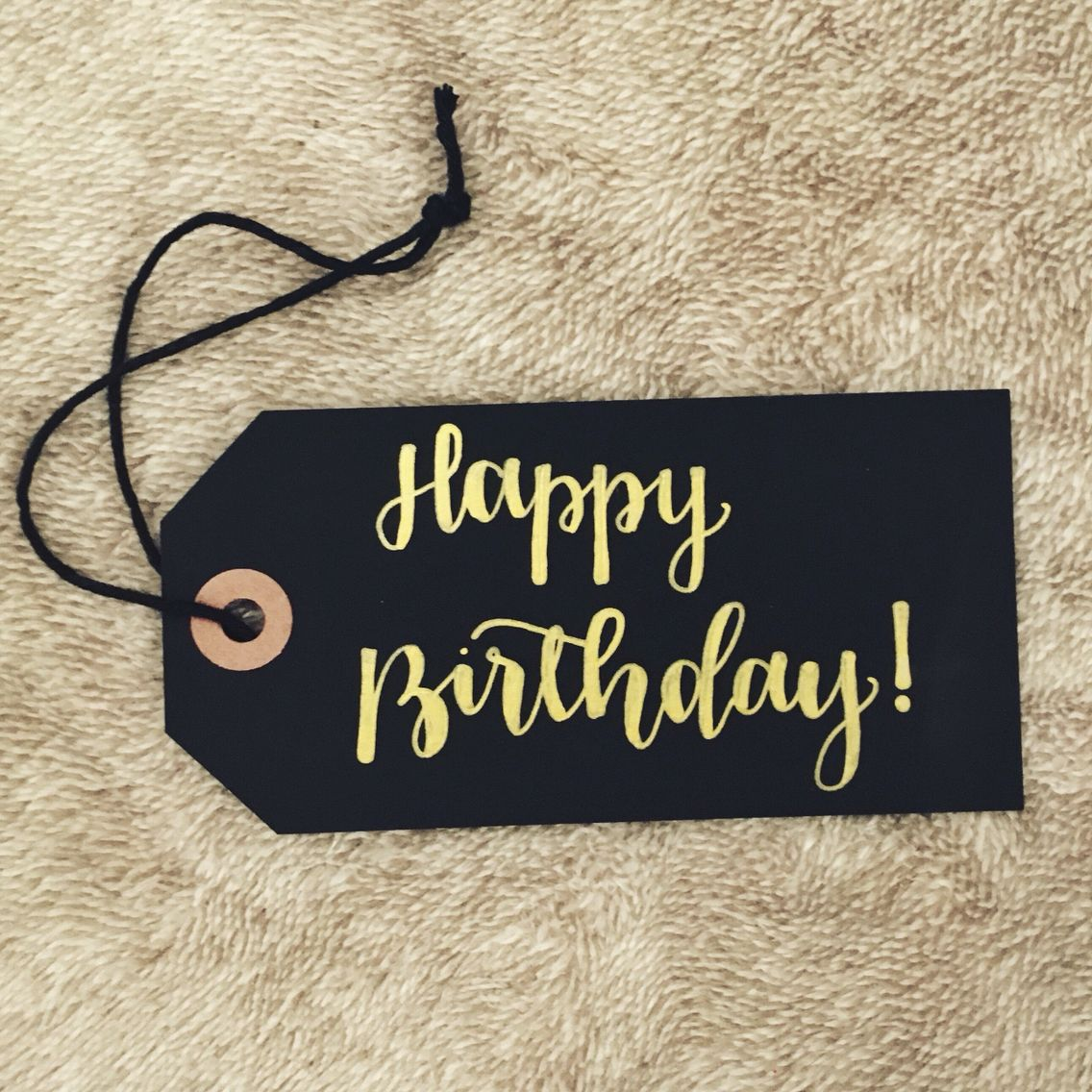 1136x1136 Happy Birthday Calligraphy Tag Calligraphy And Hand Lettering
