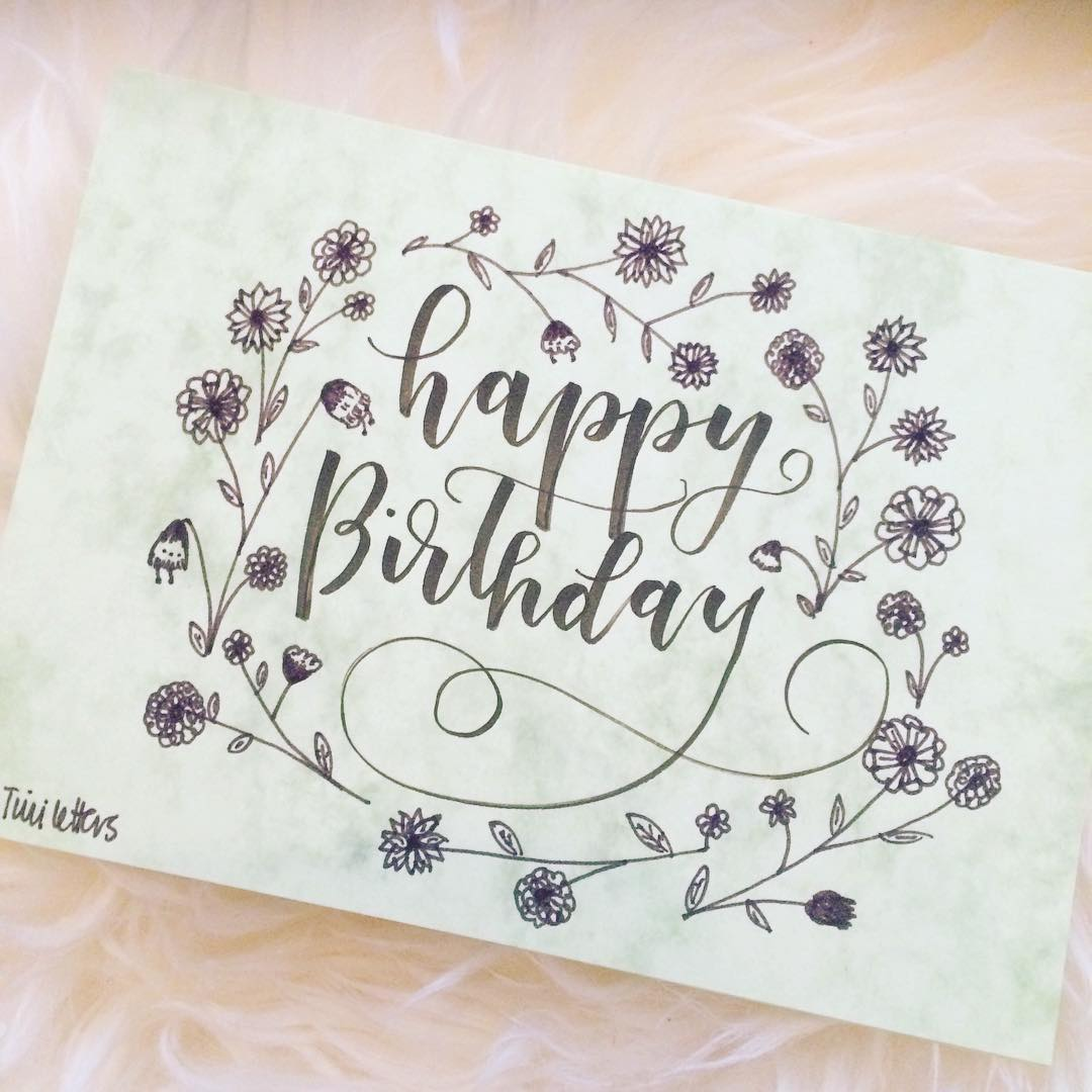 1080x1080 Lettering First) Kdo Happy Birthday Cards, Happy