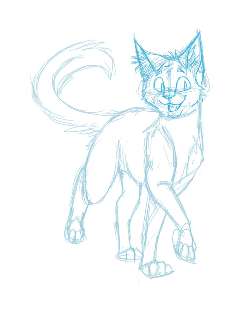 789x1013 Happy Cat Sketch By Finchwing