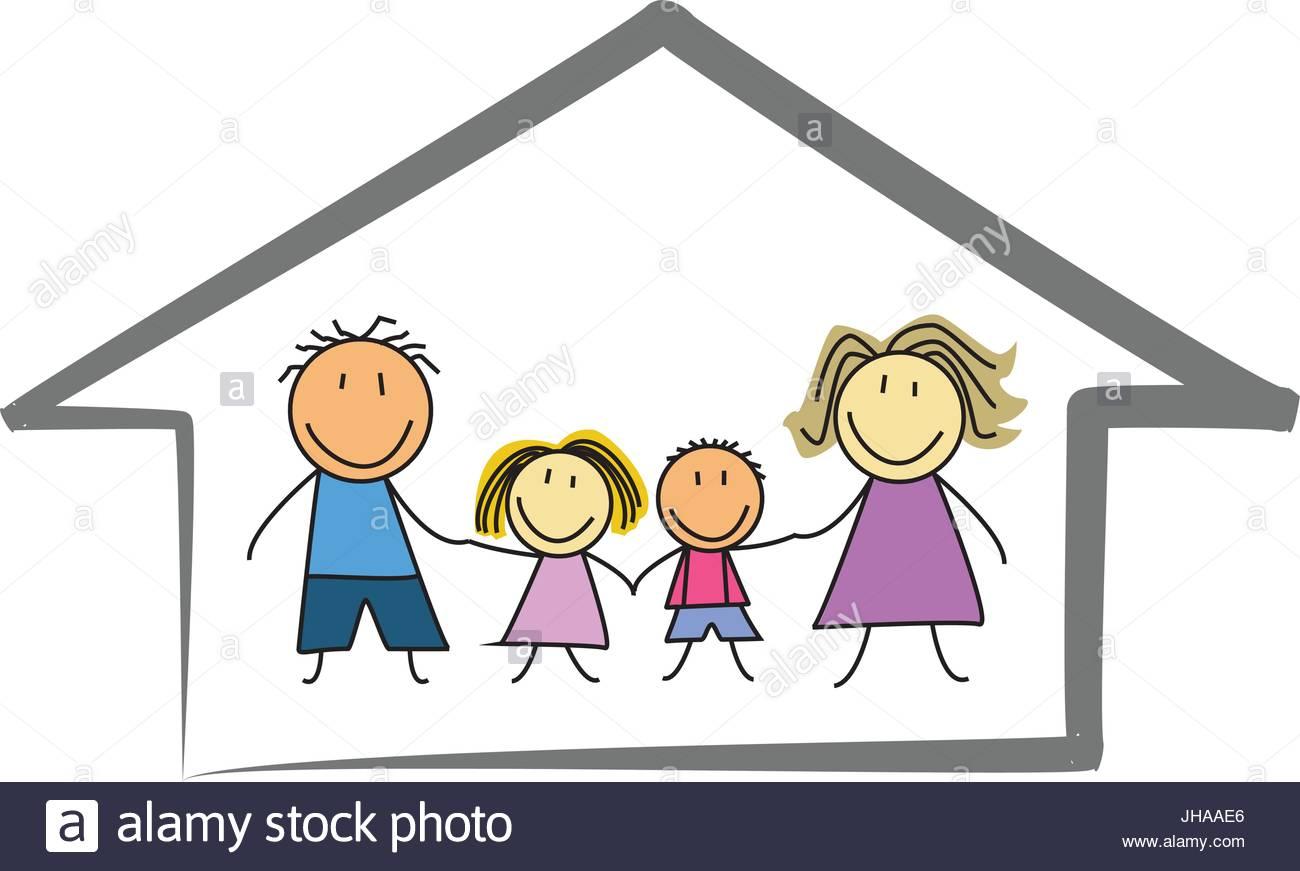 1300x871 Happy Family Home House
