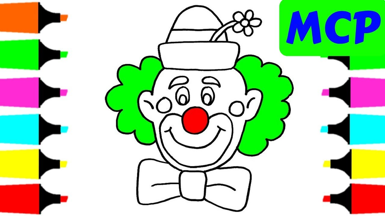 Happy Clown Drawing at GetDrawings.com | Free for personal use Happy ...