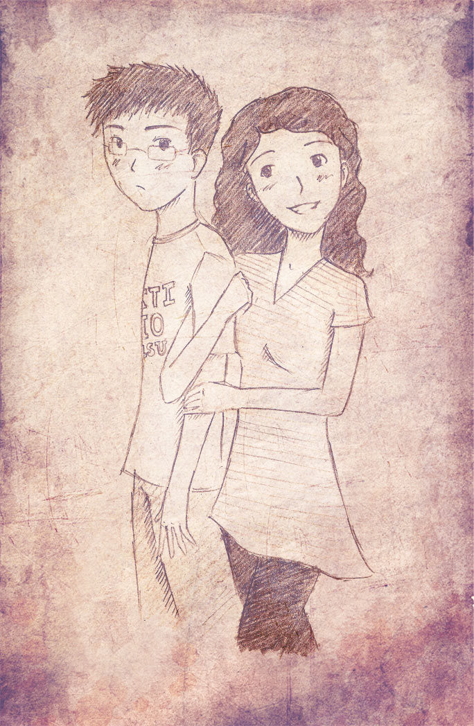 684x1048 Happy Couple Sketch By Vintage3freak