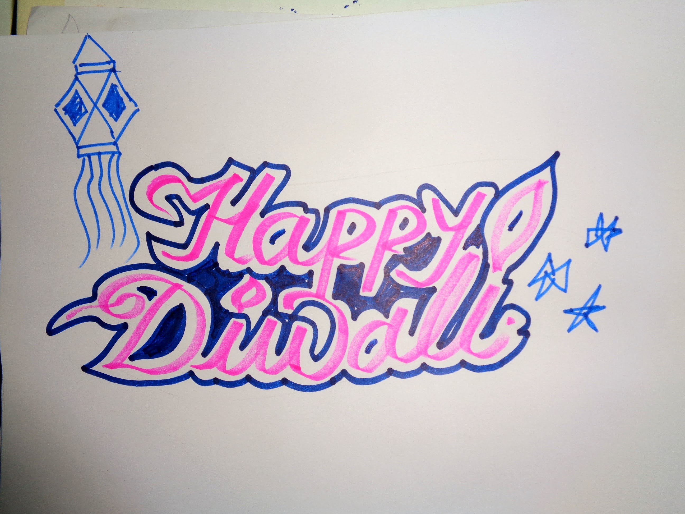 2592x1944 How To Draw A Diwali Drawing 2018
