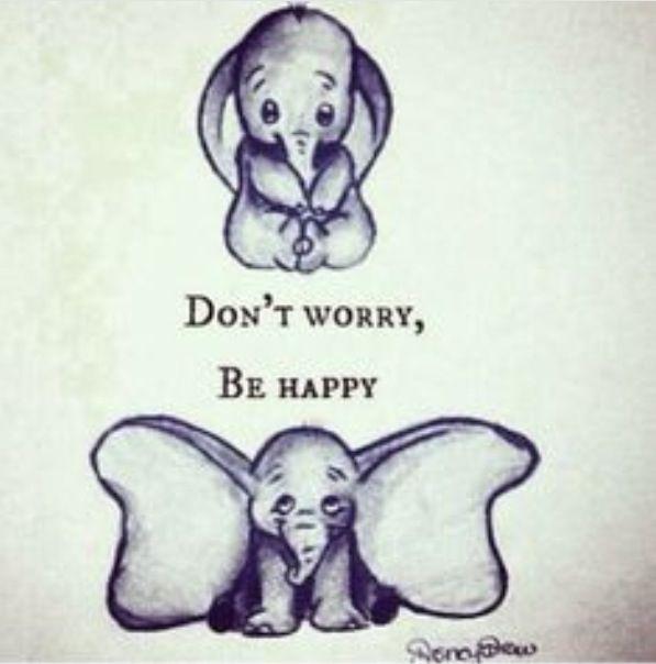 597x604 Be Happy Elephant Triste Feliz Pelicula Drawings