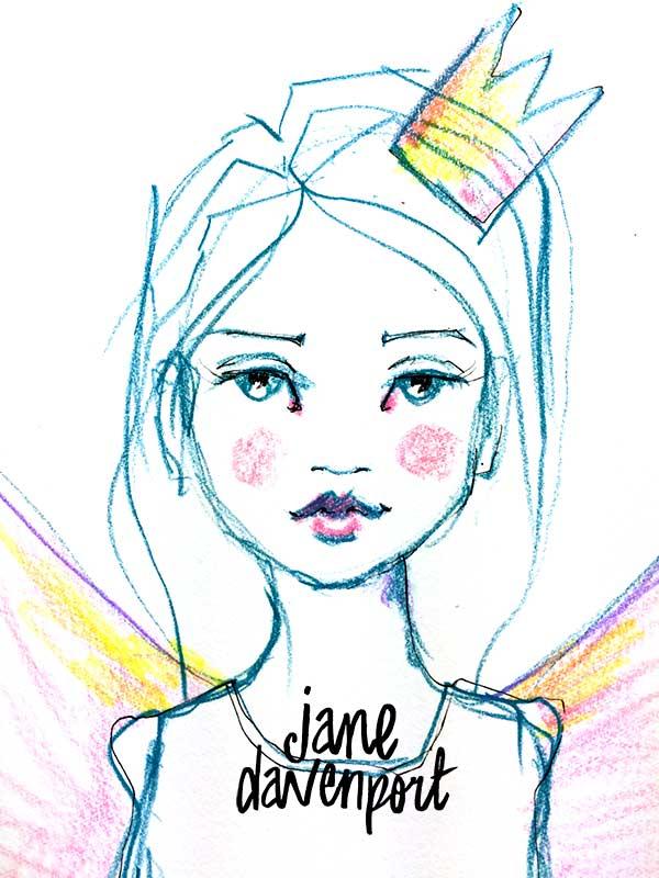 600x800 Draw Happy Jane Davenport