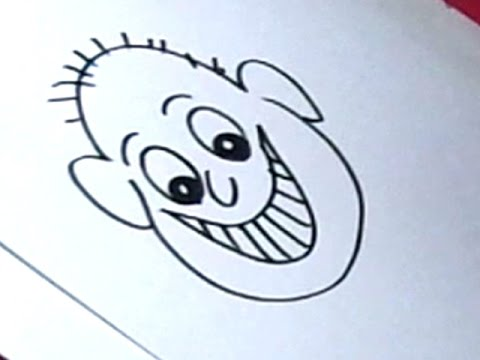 480x360 How To Draw Happy Face Drawing For Kids