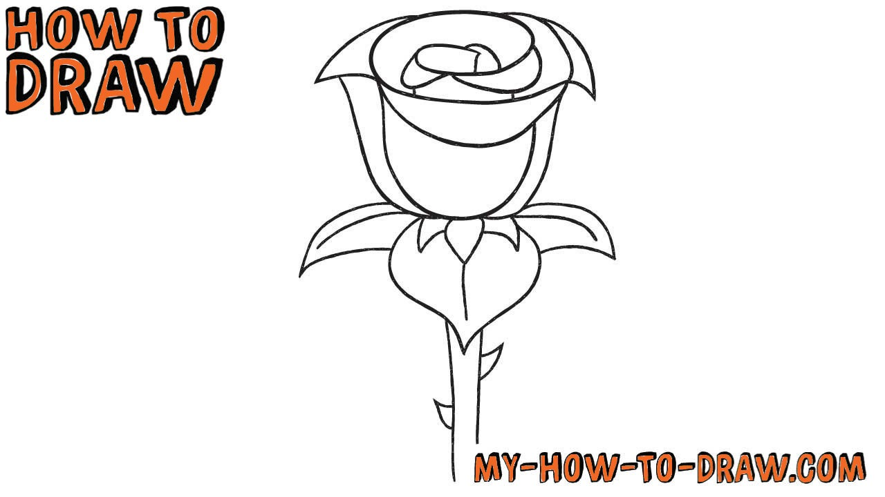 1280x720 How To Draw A Rose