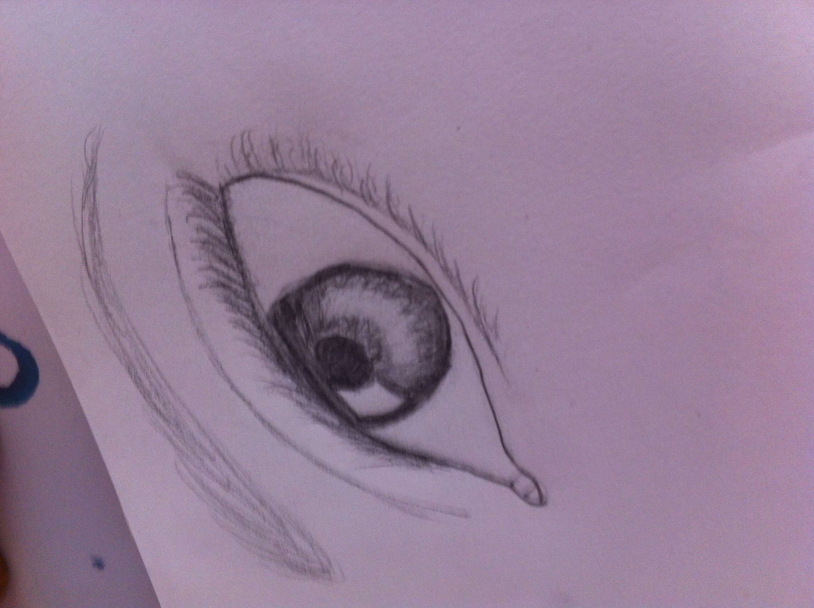 2592x1936 I Drew An Eye And Eyebrow!!!! Really Happy!!! Drawing And Other