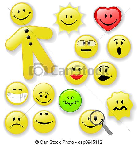 450x470 Smiley Face Button Emoticon Family. Family Of Fresh Smiling