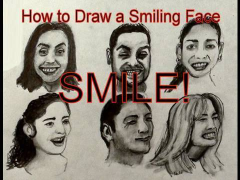 480x360 Facial Expressions How To Draw A Smiling Face With A Pencil