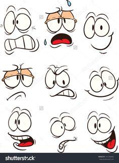 236x323 Funny Cartoon Faces Vector Set Character Development 01