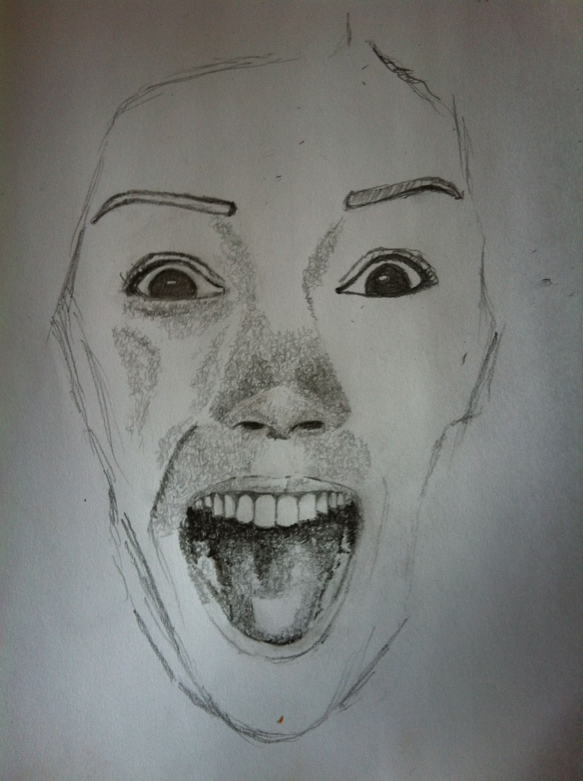1936x2592 Happy Face Pencil Drawing Faces Illustrations
