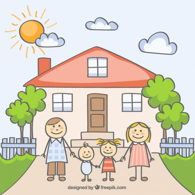 626x626 Sketchy Happy Family Vector Free Download