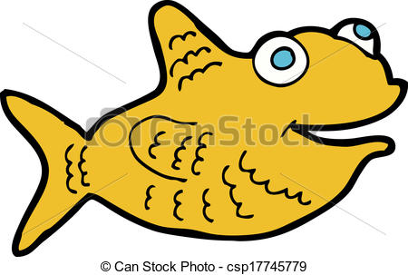 450x303 Cartoon happy fish vectors illustration