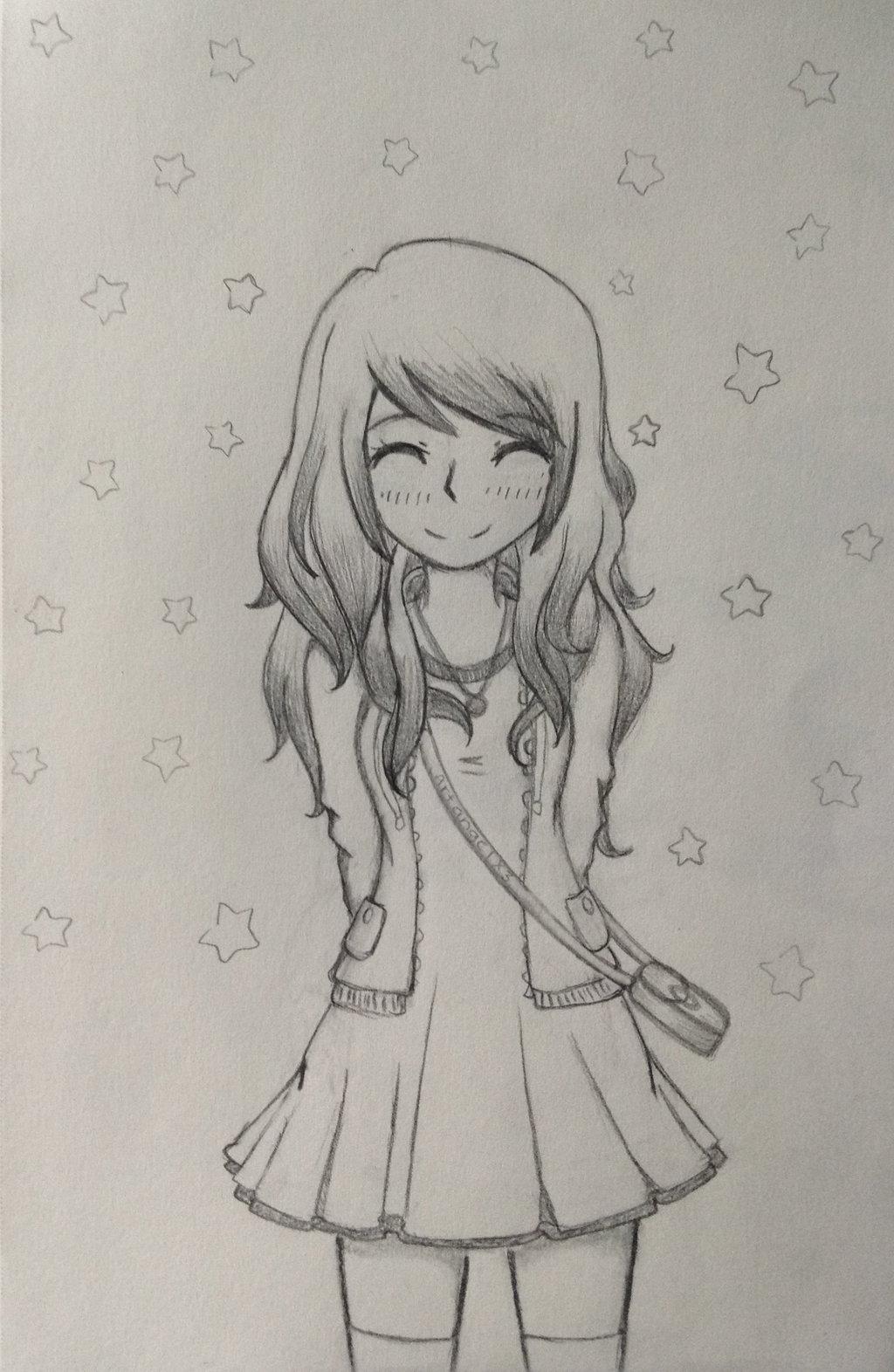1024x1572 Happy Anime Girl By Artangelx3