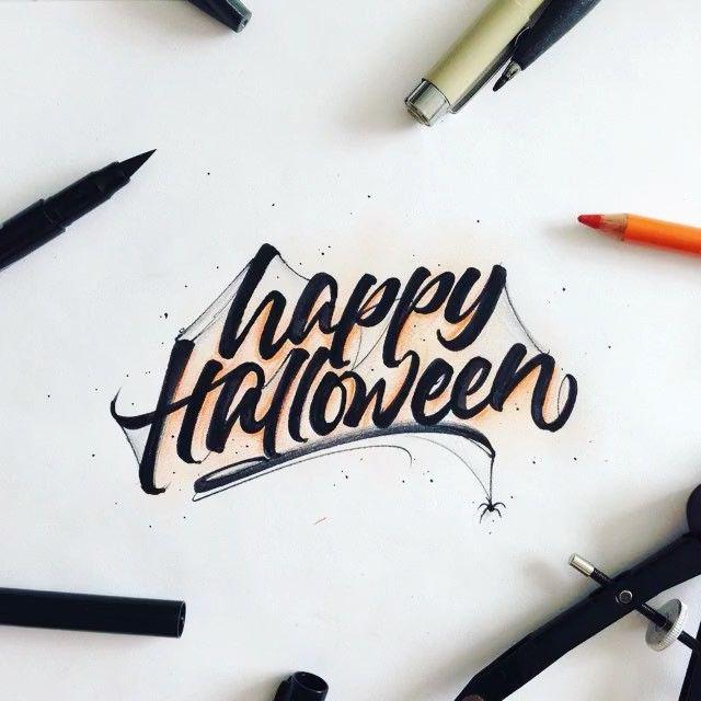 halloween lettering templates