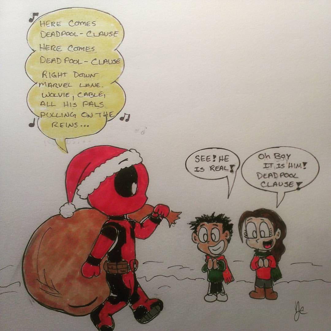 1080x1080 Happy Holidays From Top Mouse Comics! Santa Deadpool!