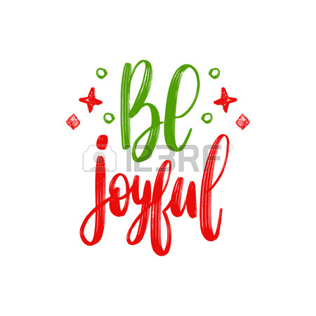 450x450 Holiday Cheer Lettering. Vector Christmas Illustration. Happy
