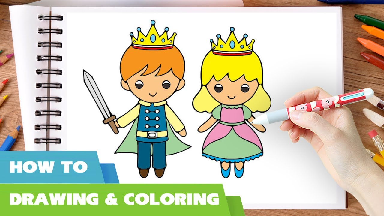1280x720 How To Draw Little King And Queen Coloring Pages L Drawing Videos