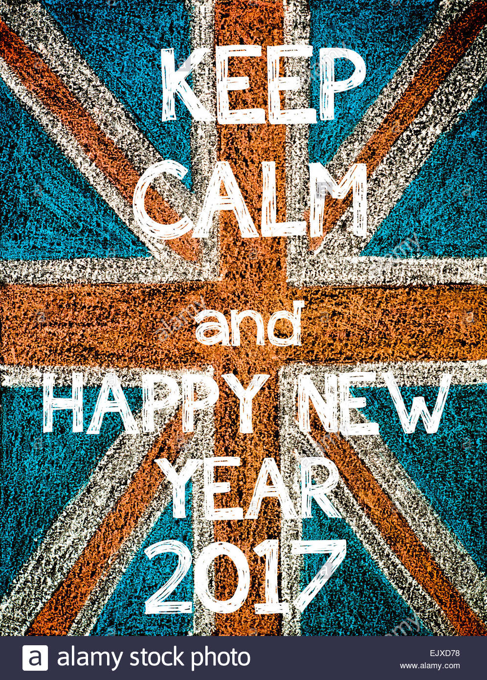 996x1390 Keep Calm And Happy New Year 2017. United Kingdom (British Union