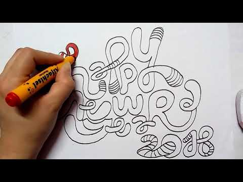 480x360 How To Draw Happy New Year 2018