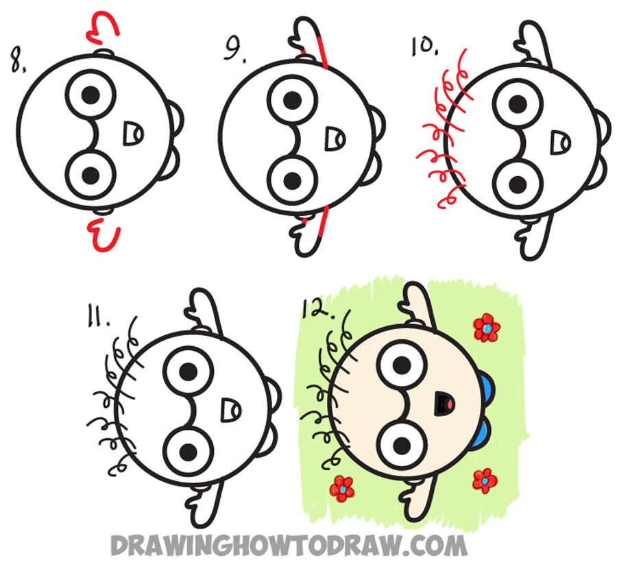 900x836 How To Draw A Cartoon Person Waving Up From Semicolon Drawing