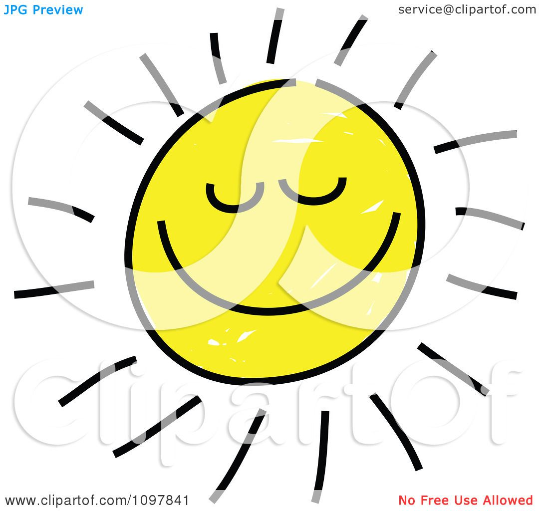 1080x1024 Clipart Happy Smiling Summer Sun With Closed Eyes Child Like