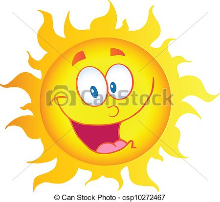 450x414 Illustration Of Happy Sun Cartoon Character Clip Art Vector