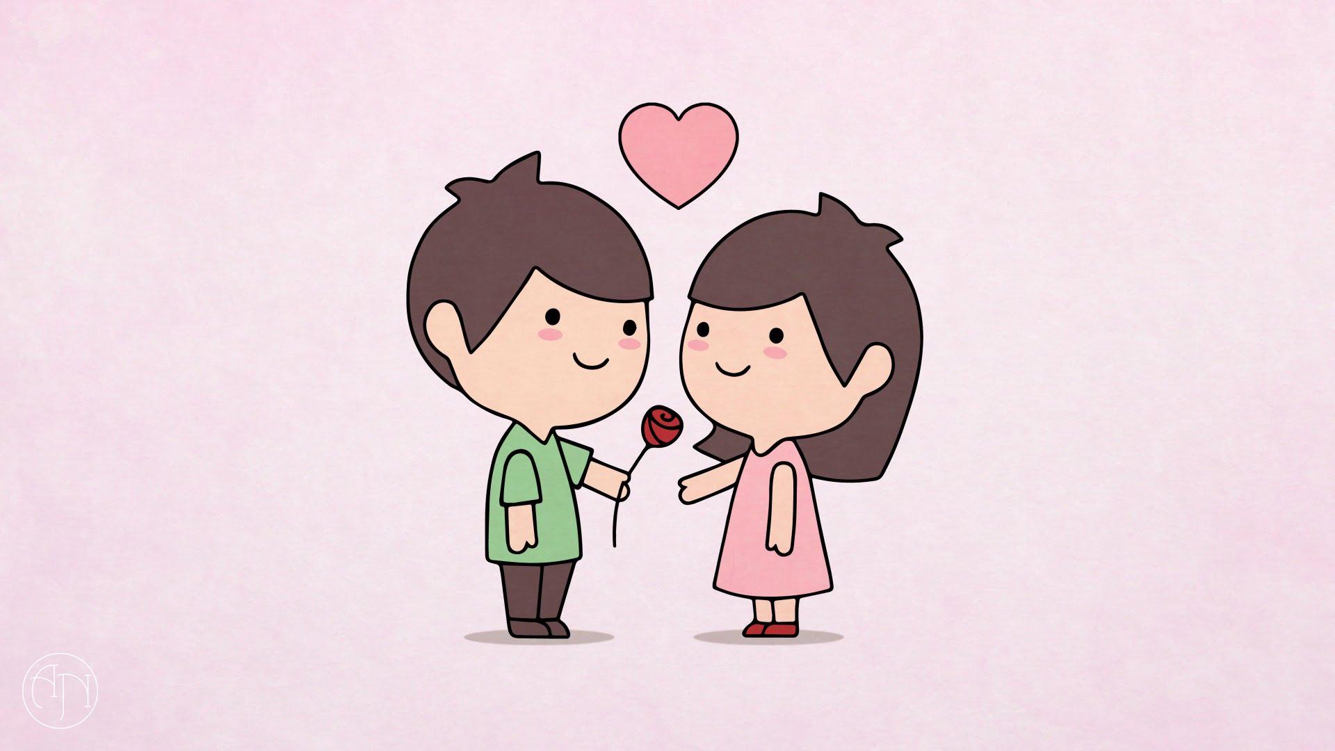 1920x1080 Happy Valentine Day Pencil Sketch How To Draw] Valentine's Day