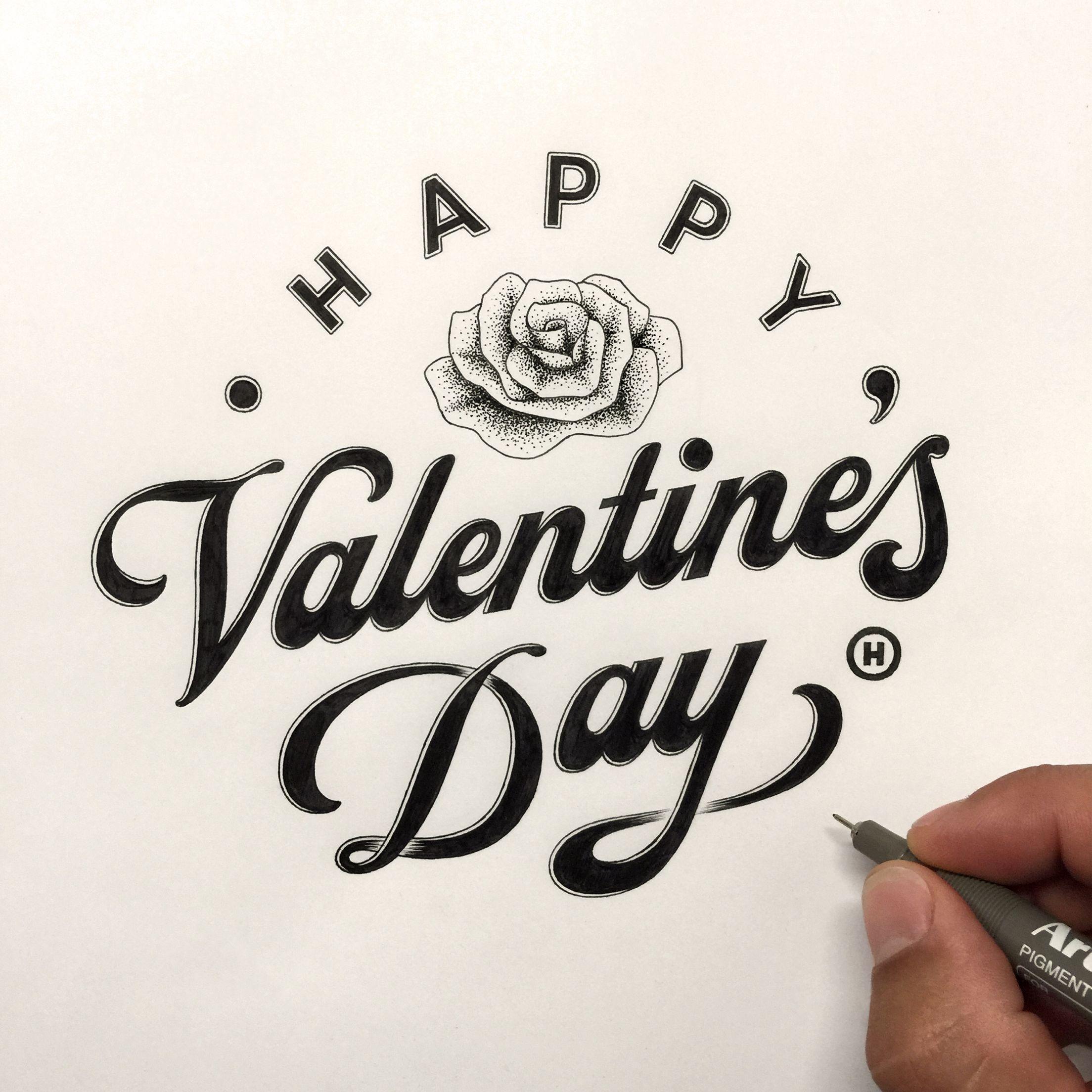 2208x2208 Happy Valentine's Day. Anthony Hos Typography