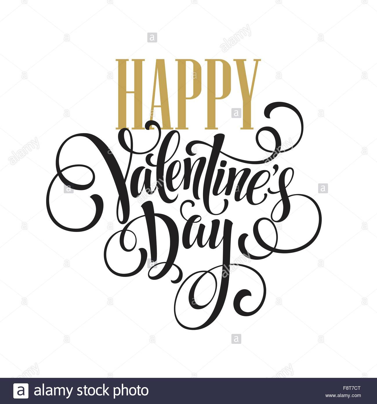 1300x1390 Happy Valentines Day Hand Drawing Lettering Design. Vector Stock